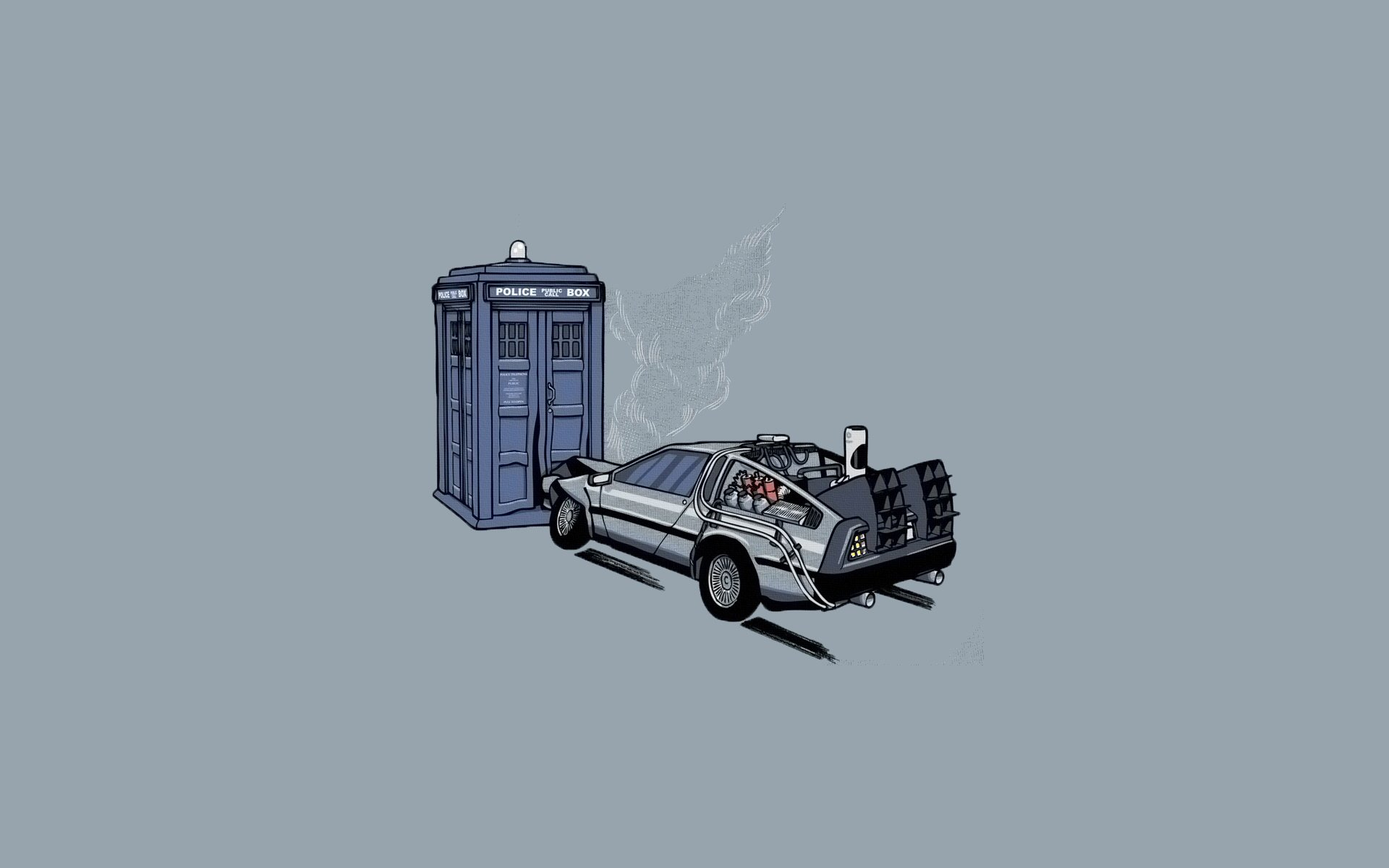 Humor - Funny  DeLorean Back To The Future Wallpaper