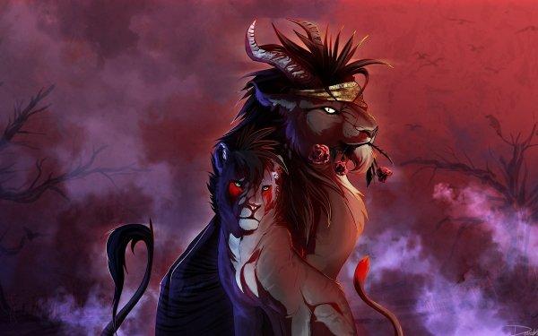 Fantaisie Lion Animaux Fantastique Animaux Fond d'écran HD | Arrière-Plan