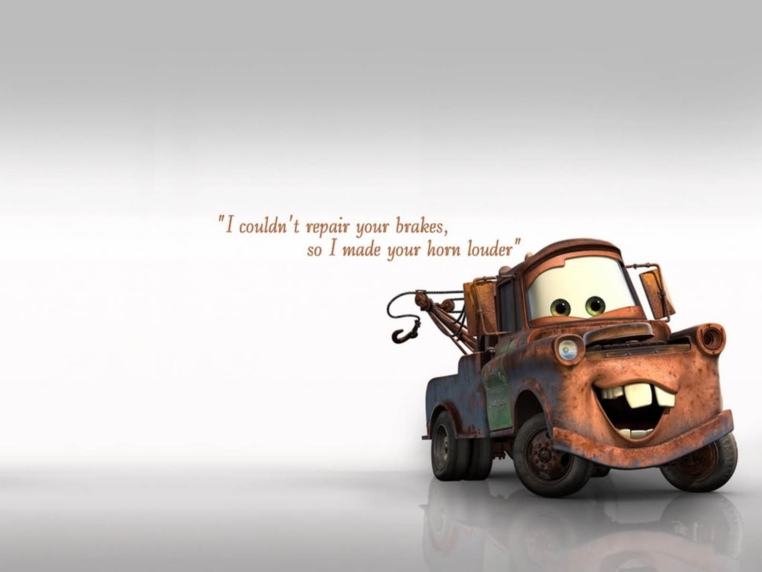 Disneys Cars Quote By Mater Hd Wallpaper Background Image