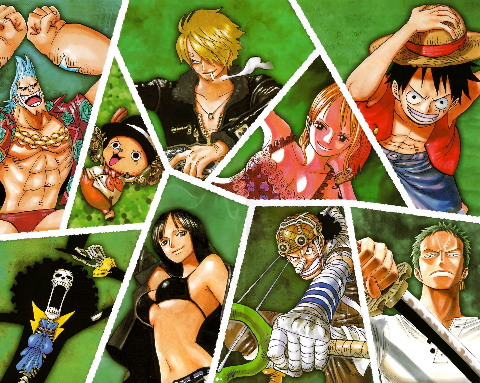 One Piece Straw Hat Pirates Bakgrund And Bakgrund 1877x1500