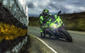 Kawasaki Ninja Motorcycle Vehicle HD Wallpaper