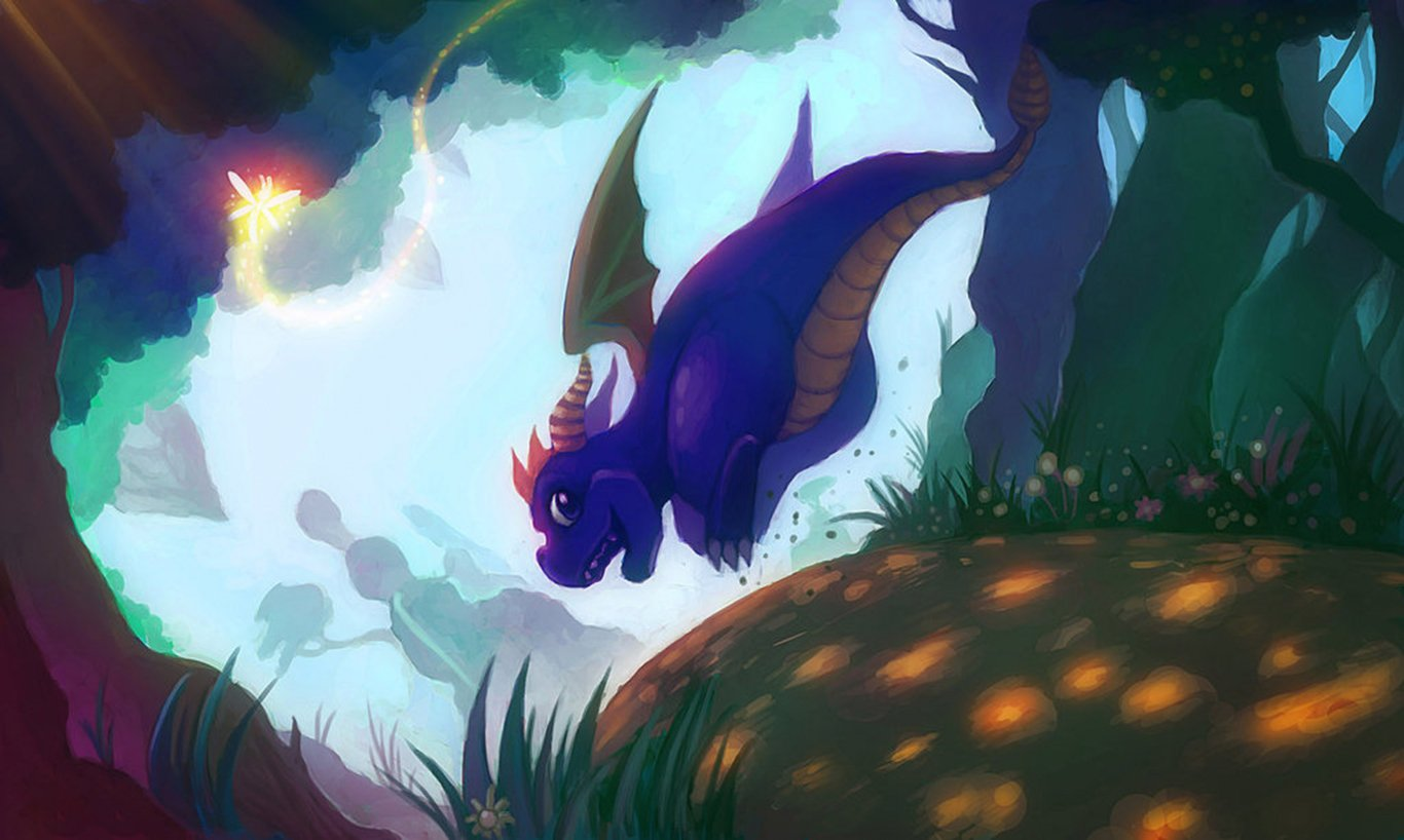 Spyro and sparx wallpaper and background image 1366x818 - Spyro wallpaper ...