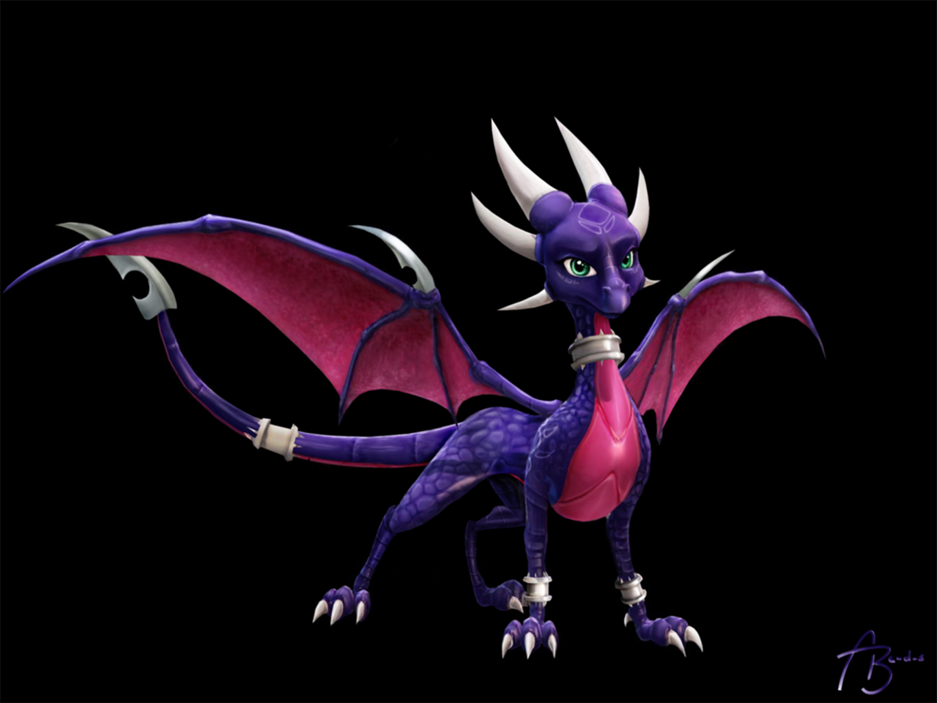 Cynder wallpaper and background image 1366x1025 id - Spyro wallpaper ...