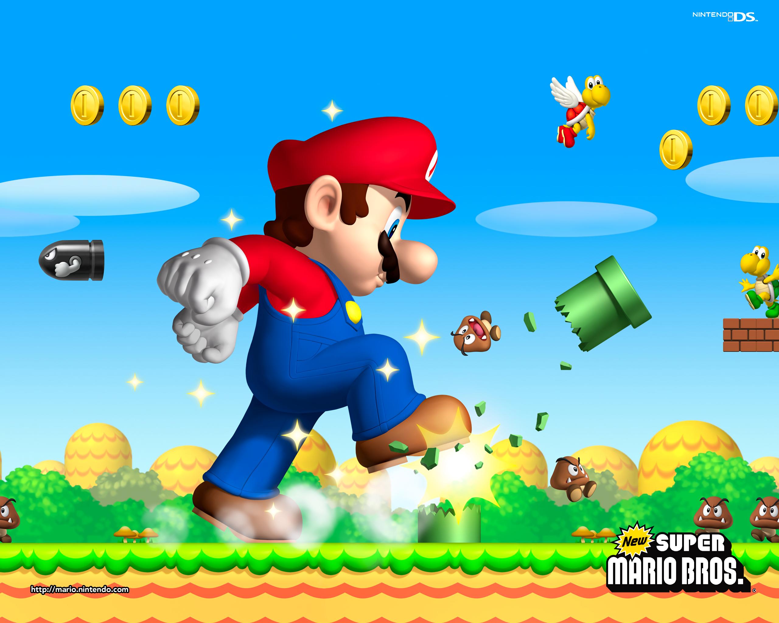 Mario Vs Goombas Bill Ball And Koopa Troopa Hd Wallpaper