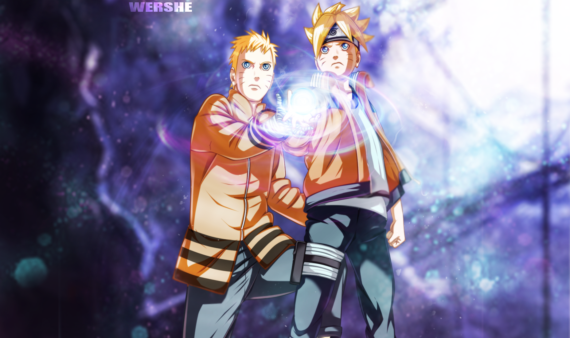 Naruto and his son Boruto Papel de Parede and Planos de Fundo  1856x1100  ID:650013