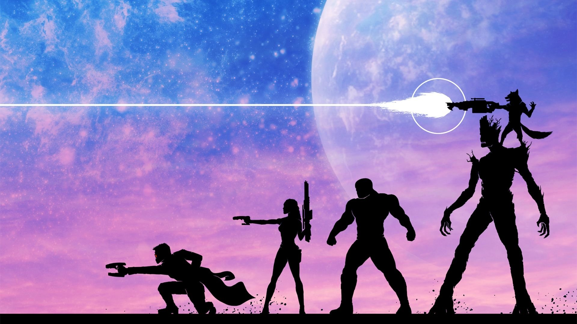 Comics - Guardians Of The Galaxy  Star Lord Gamora Drax The Destroyer Groot Peter Quill Rocket Raccoon Wallpaper