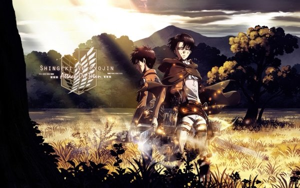 Anime Attack On Titan Eren Yeager Levi Ackerman HD Wallpaper | Hintergrund