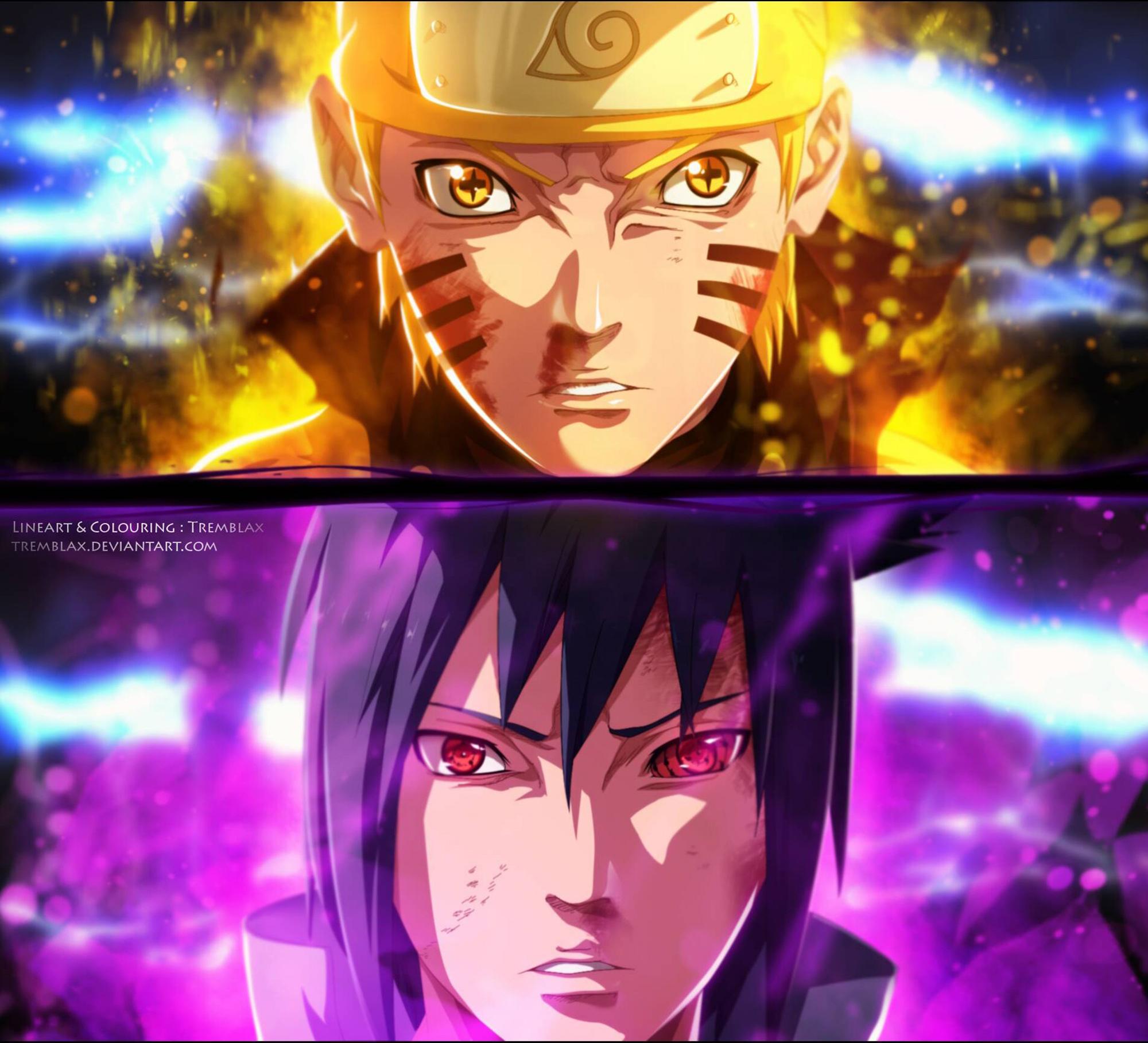 Naruto and Sasuke Full HD Wallpaper and Background Image | 2000x1817 | ID:654870
