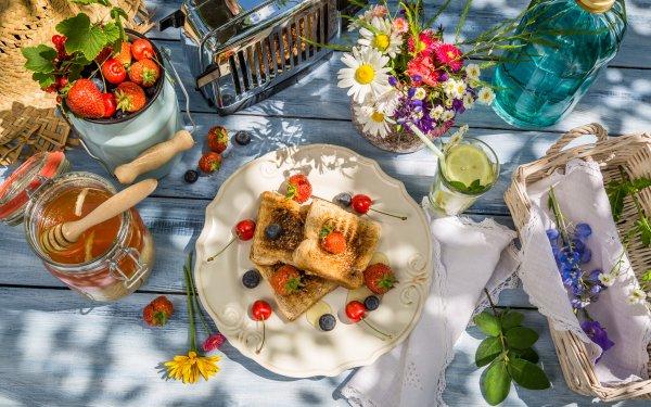 Alimento Desayuno Toast Miel Baya Fondo de pantalla HD | Fondo de Escritorio
