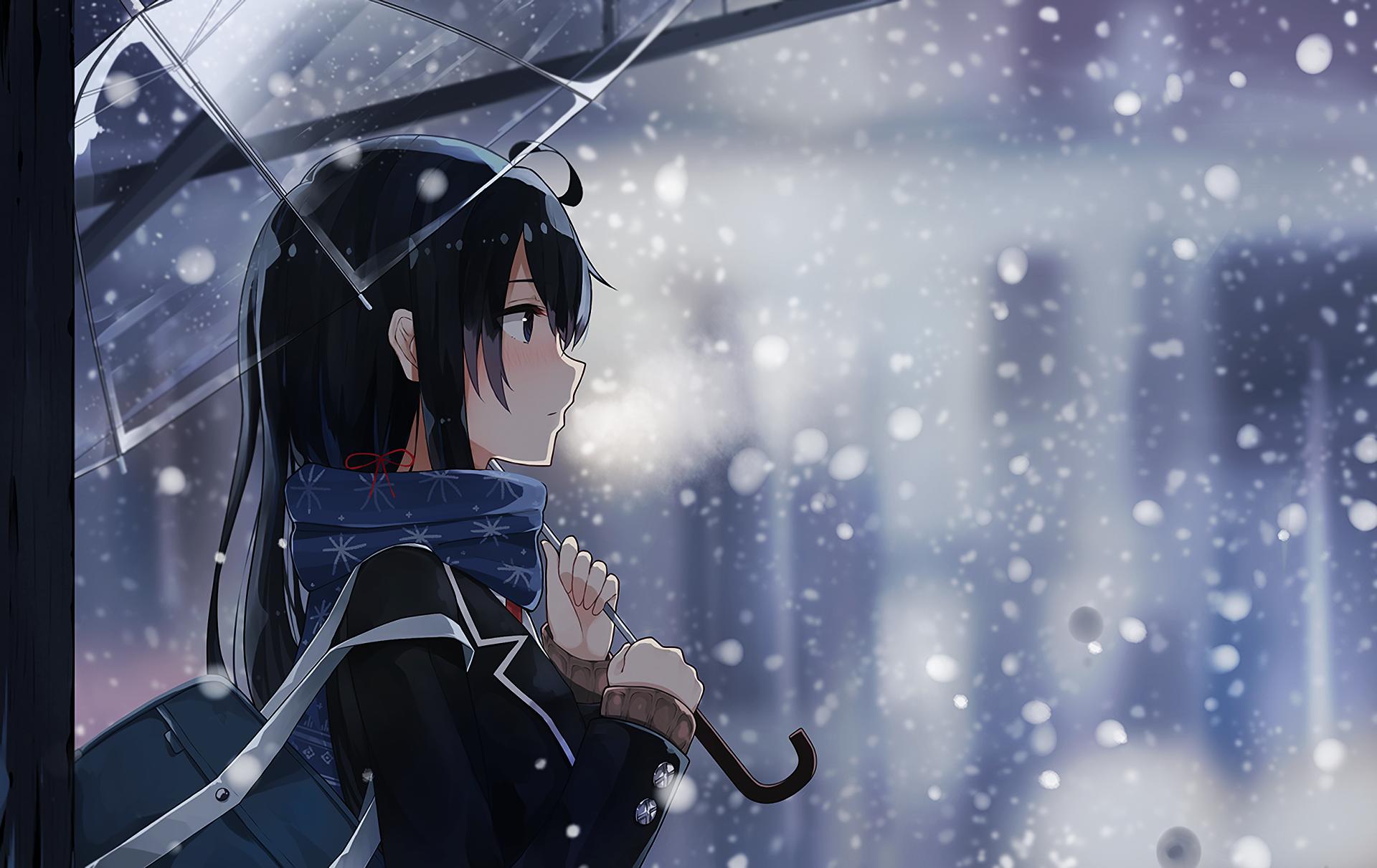 91 yukino yukinoshita hd wallpapers backgrounds - Winter anime girl wallpaper ...