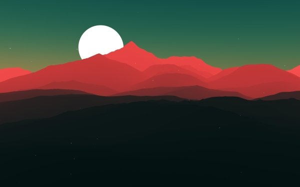 Artistic Mountain Sunset HD Wallpaper | Background Image