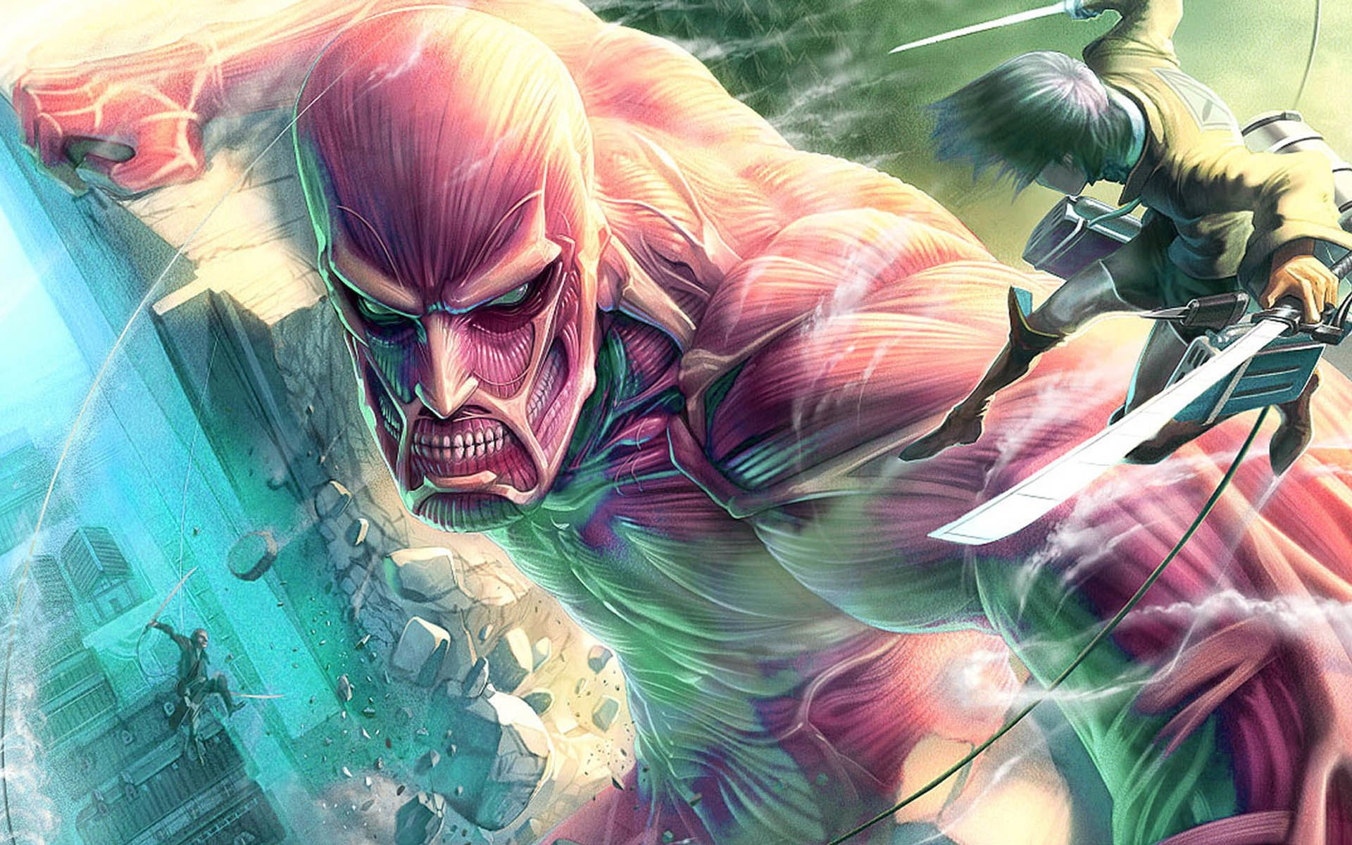 Colossal Titan Vs Eren Yeager Full HD Wallpaper and ...