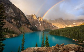 Earth Lake Lakes Blue Scenery Rainbow Mountain Landscape HD Wallpaper | Background Image