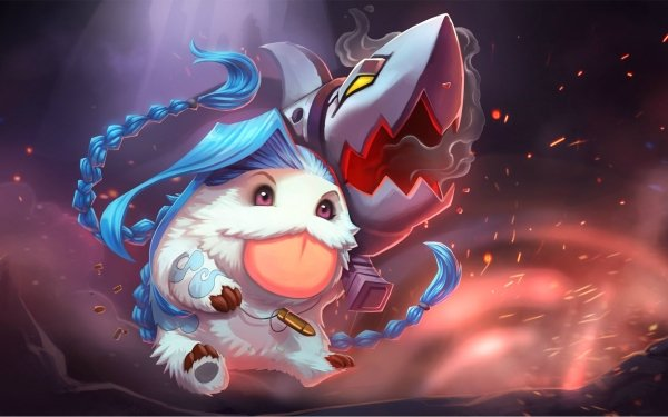 Video Game League Of Legends Jinx Poro HD Wallpaper | Background Image