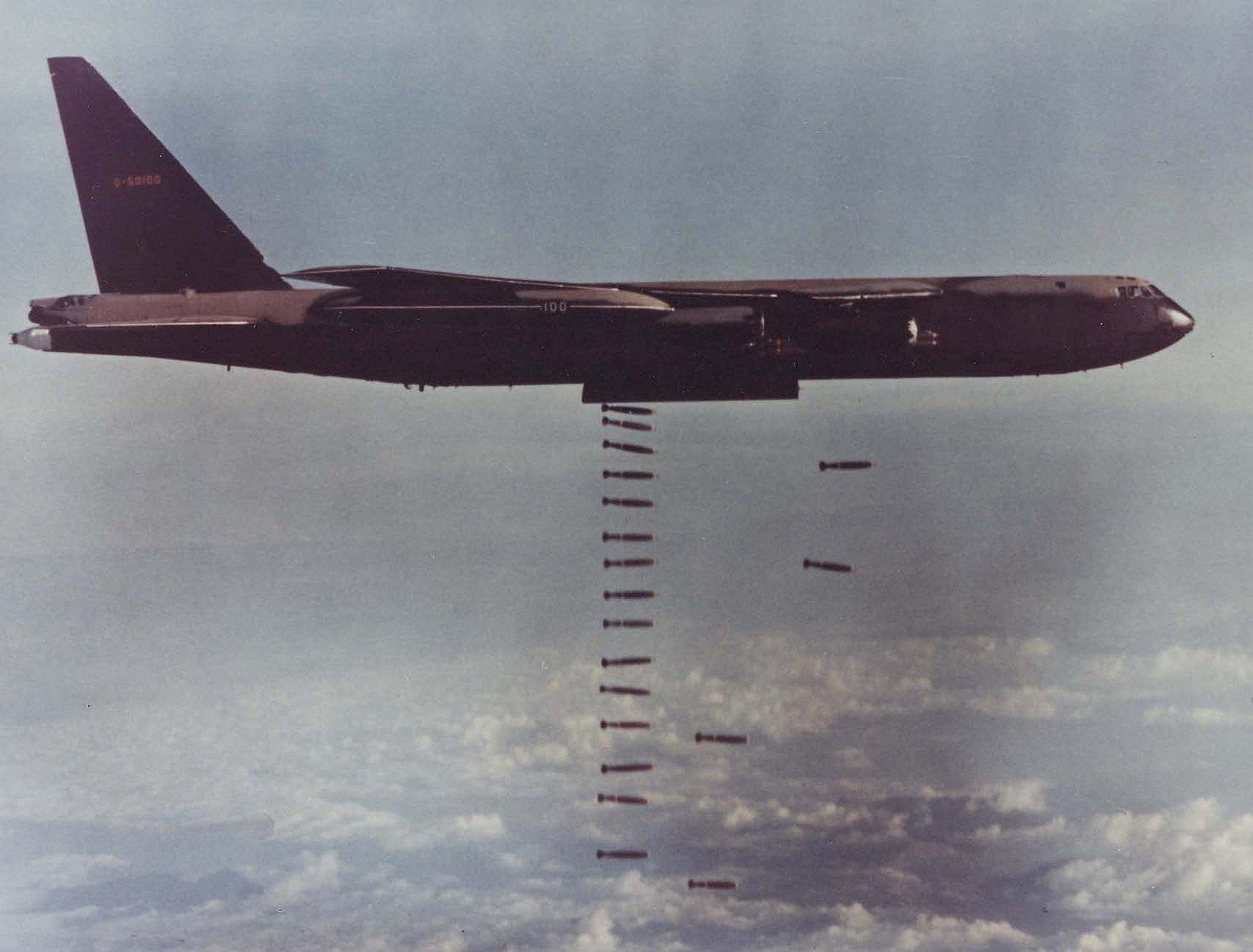 B52 Dropping Lots amp Lots of Bombs  Carpet Bombing