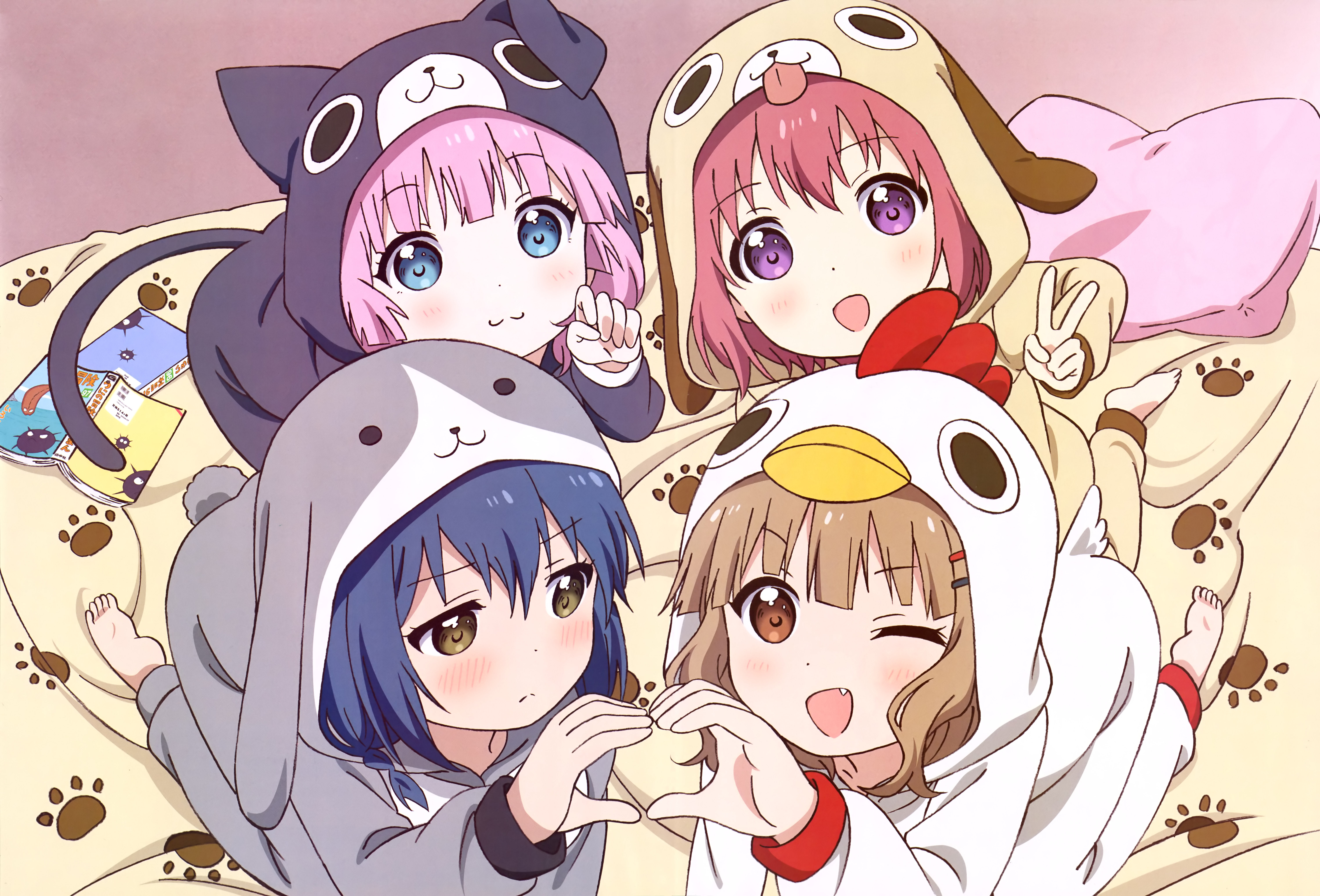 Yuru Yuri 5k Retina Ultra HD Wallpaper And Background Image