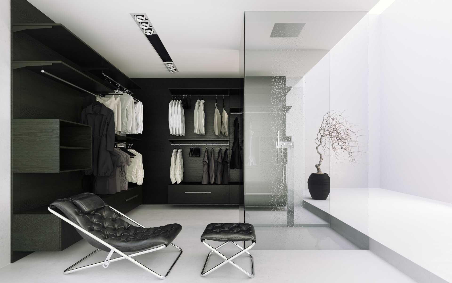 Wardrobe style by italian furniture company poliform hd for Stanza 3d