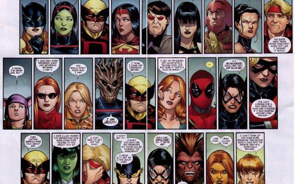 Bande-dessinées New Avengers Avengers Deadpool Groot Miss Hulk Ulysses Archer Marvel Comics Beast Squirrel Girl Fond d'écran HD | Arrière-Plan