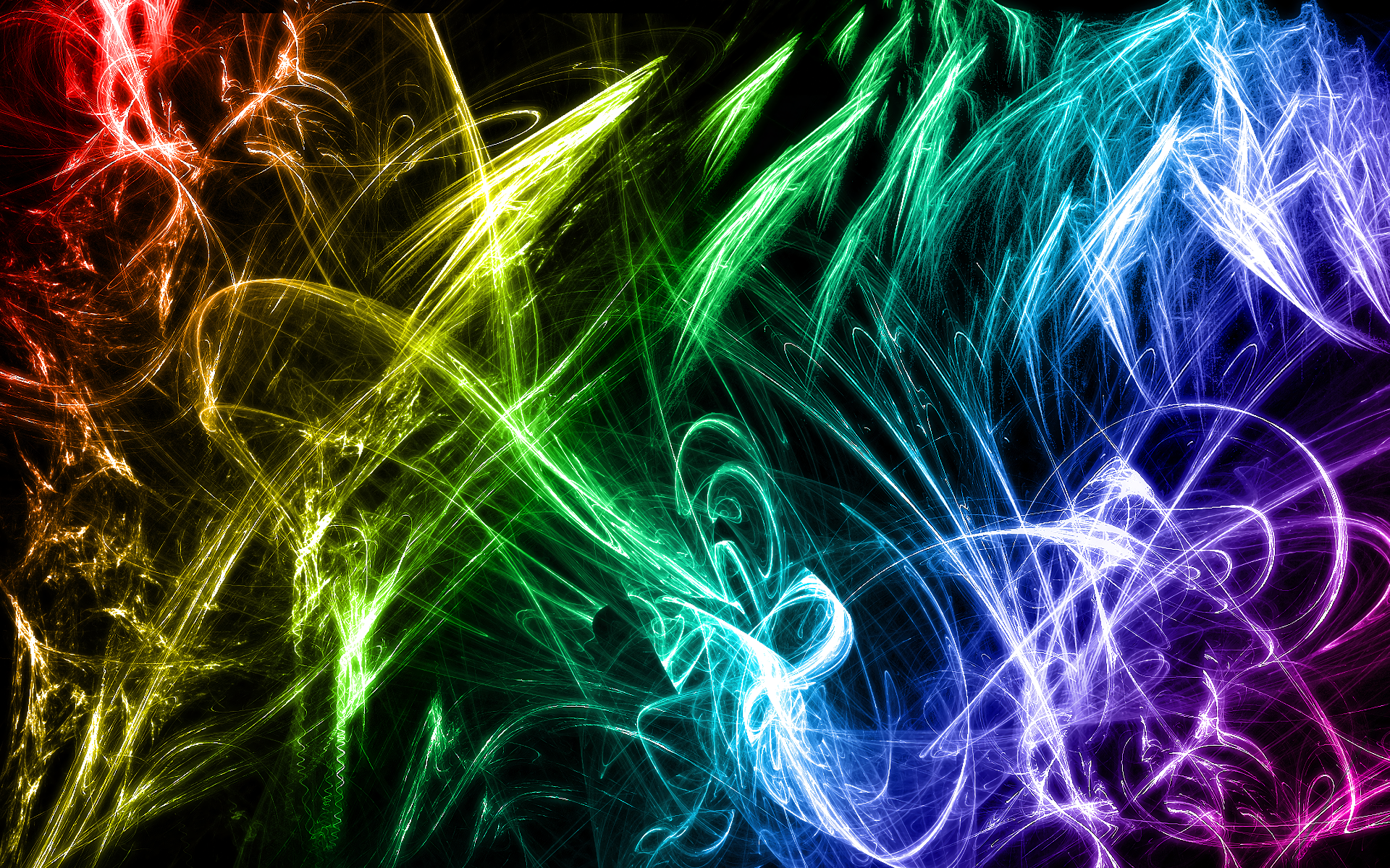 Abstract - Cool  Colors Abstract Colorful Wallpaper