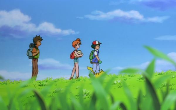 Anime Pokémon The Movie: Mewtwo Strikes Back Pokémon Brock Misty Ash Ketchum Pikachu Fondo de pantalla HD | Fondo de Escritorio