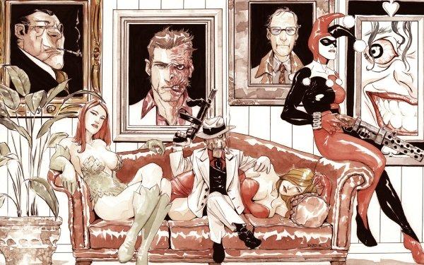 Comics Gotham City Sirens Harley Quinn Poison Ivy HD Wallpaper   Background Image