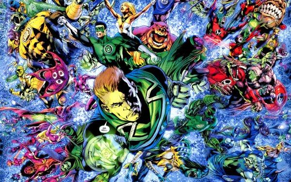 Comics Green Lantern Corps Green Lantern Guy Gardner Kyle Rayner Kilowog Red Lantern Yellow Lantern Tomar-Re HD Wallpaper | Background Image
