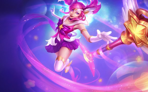 Videojuego League Of Legends Lux Star Guardians Fondo de pantalla HD | Fondo de Escritorio