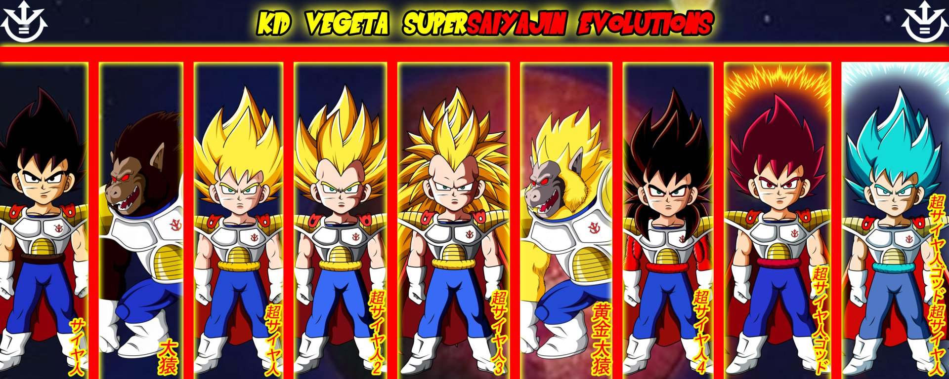 Goku And Vegeta Full Hd Fondo De Pantalla And Fondo De: Kid Vegeta Supersaiyajin Evolutions Full HD Fondo De