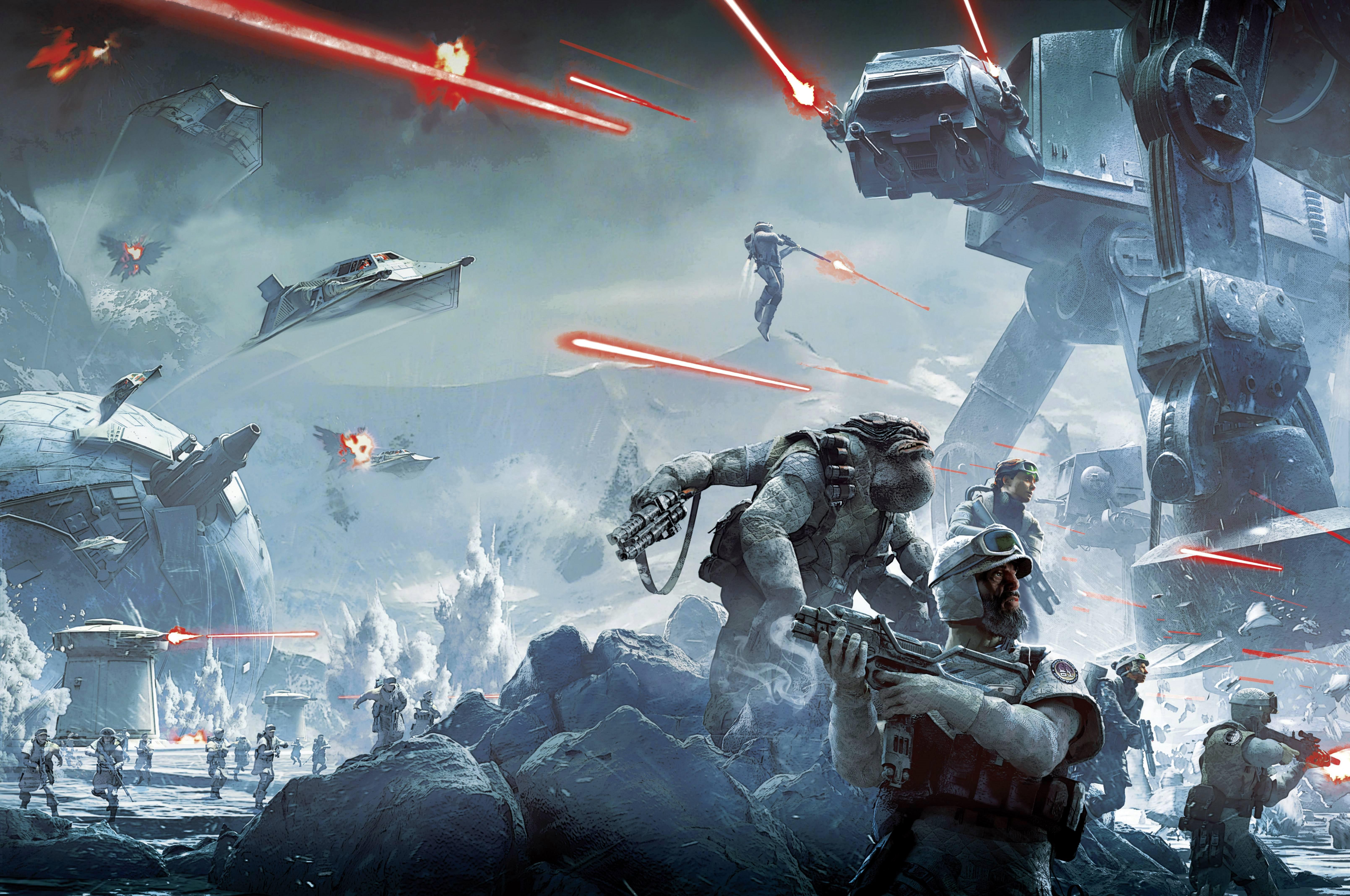 V 237 Deo Game Star Wars Battlefront At At Walker Papel De Parede