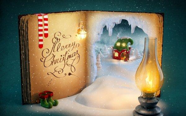 Feiertage Weihnachten Buch Künstlerisch Laterne HD Wallpaper | Hintergrund