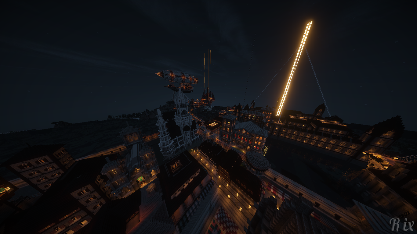 Video Game - Minecraft  City Night Video Game Wallpaper