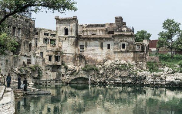 Religious Katasraj Temple Temples Temple Katasraj Pakistan Water HD Wallpaper | Background Image