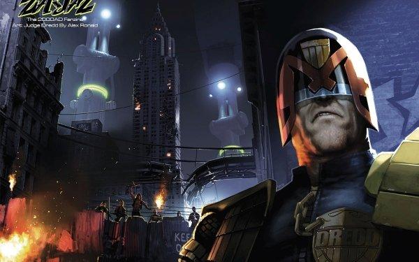 Comics Zarjaz Judge Dredd HD Wallpaper | Background Image