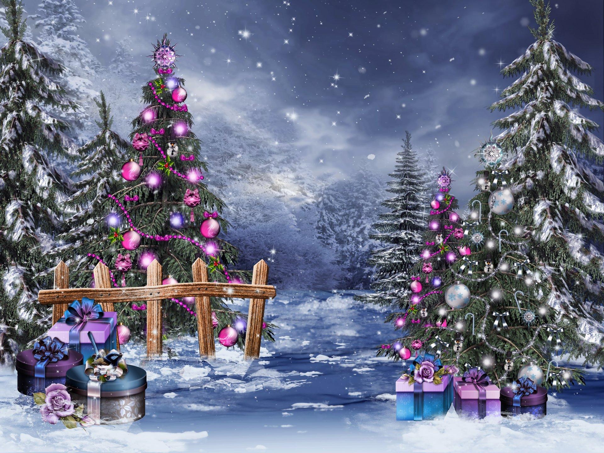 Blue Christmas Tree Forum Avatar: Weihnachten 4k Ultra HD Wallpaper