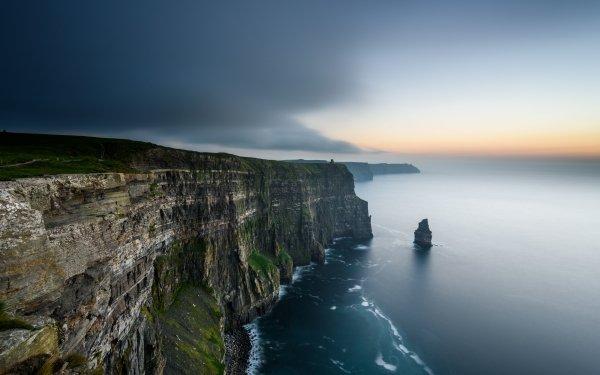 Earth Cliffs of Moher Cliff Coastline Sea Seascape Landscape Ireland HD Wallpaper | Background Image