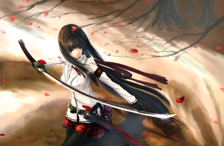 Original hd wallpaper background image 3000x1956 id - Girl with sword wallpaper ...