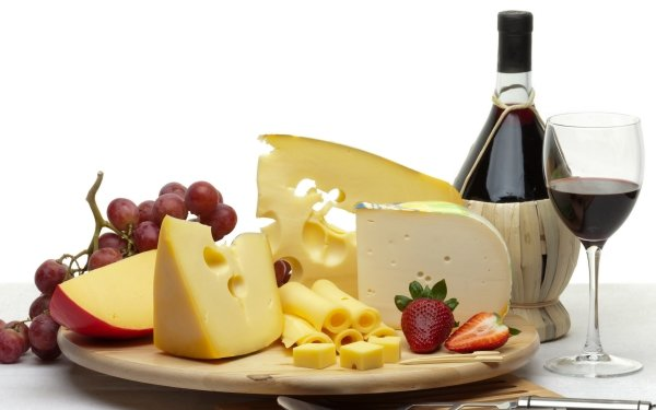Food Still Life Cheese Grapes Wine Glass HD Wallpaper | Background Image