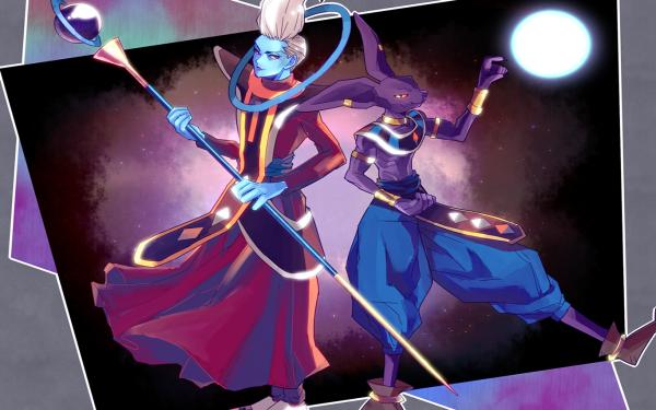 Anime Dragon Ball Super Dragon Ball Whis Beerus HD Wallpaper | Background Image