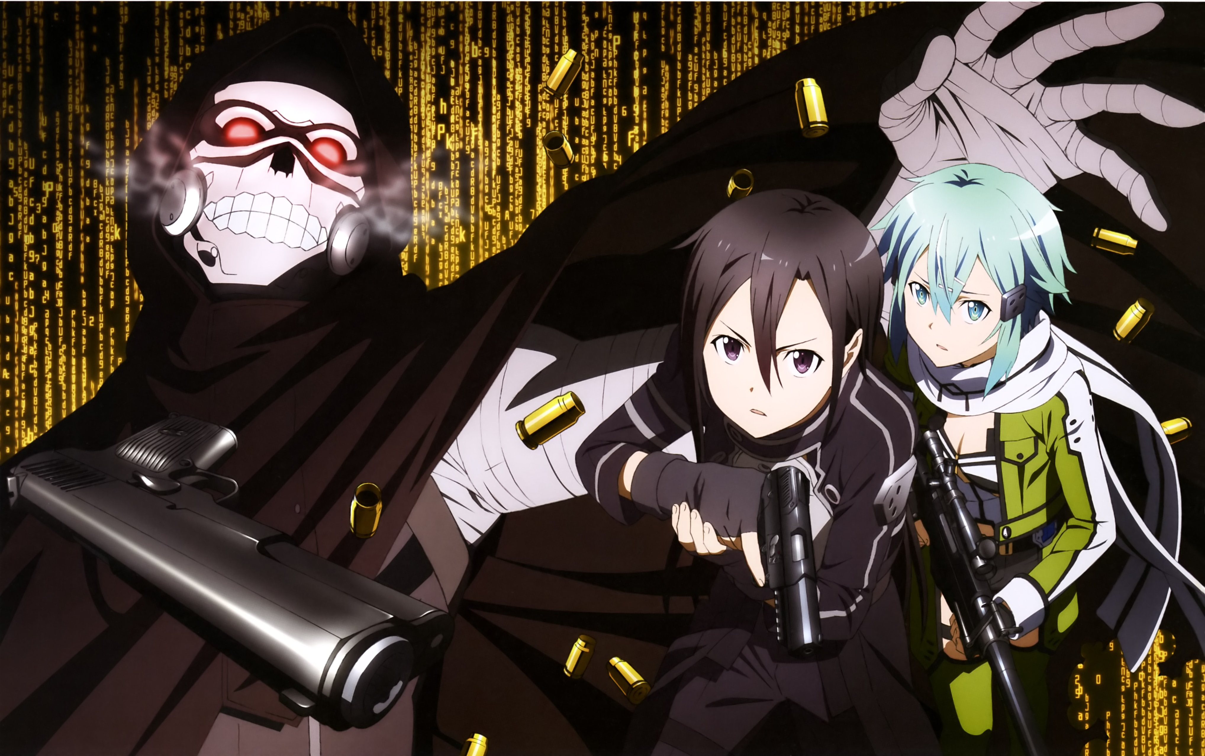 Kirito and Sinon Vs Death Gun 4k Ultra HD Wallpaper and Background