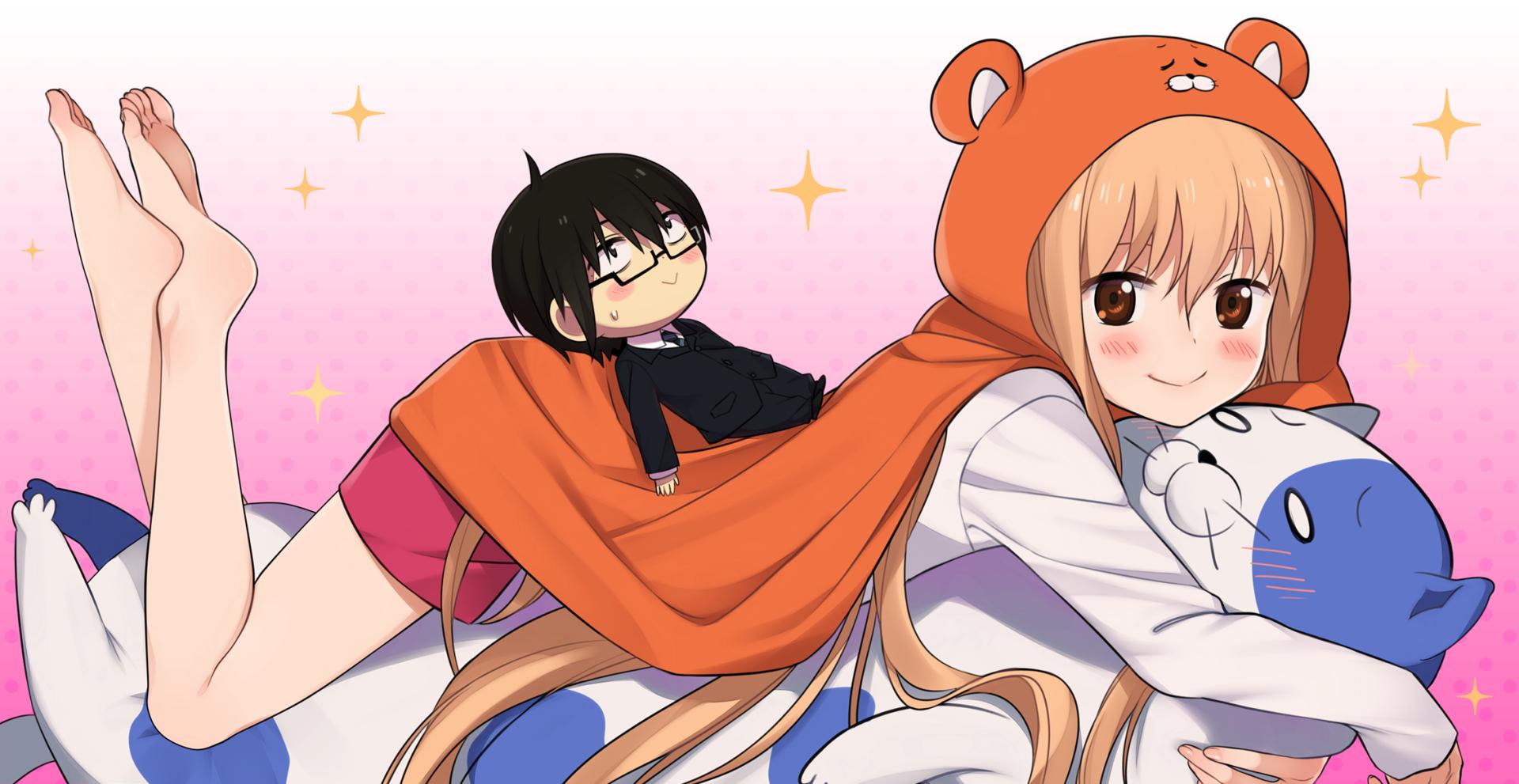 Anime - Himouto! Umaru-chan  Umaru Doma Chibi Long Hair Taihei Doma Anime Blonde Smile Wallpaper