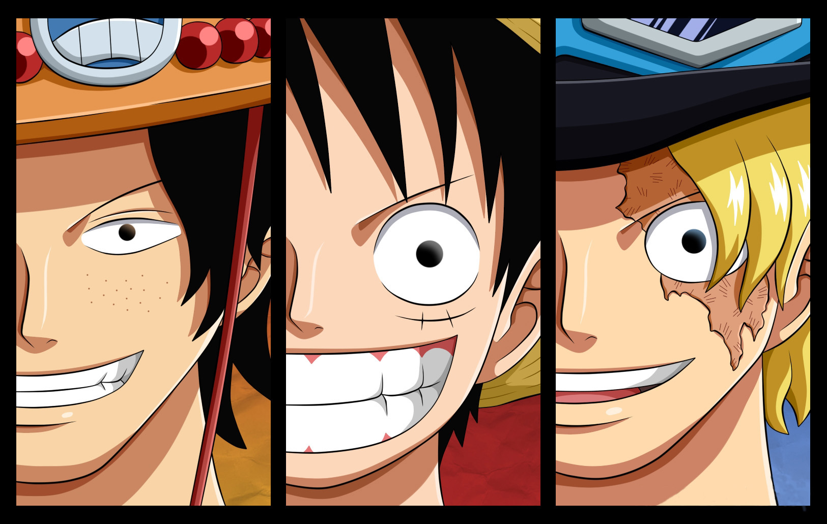 Luffy, Sabo, Ace Wallpaper and Hintergrund | 1625x1030 ...