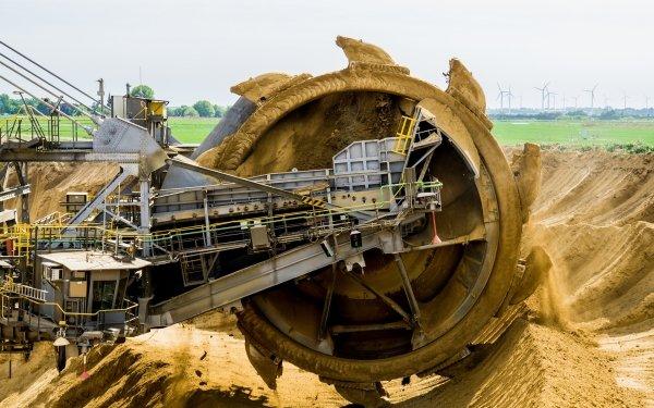 Vehicles Bucket Wheel Excavator Excavator Machine Dirt HD Wallpaper | Background Image