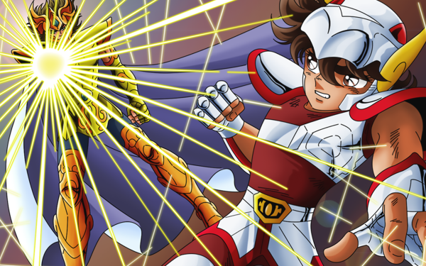 Anime Saint Seiya Pegasus Seiya Leo Aiolia HD Wallpaper | Background Image