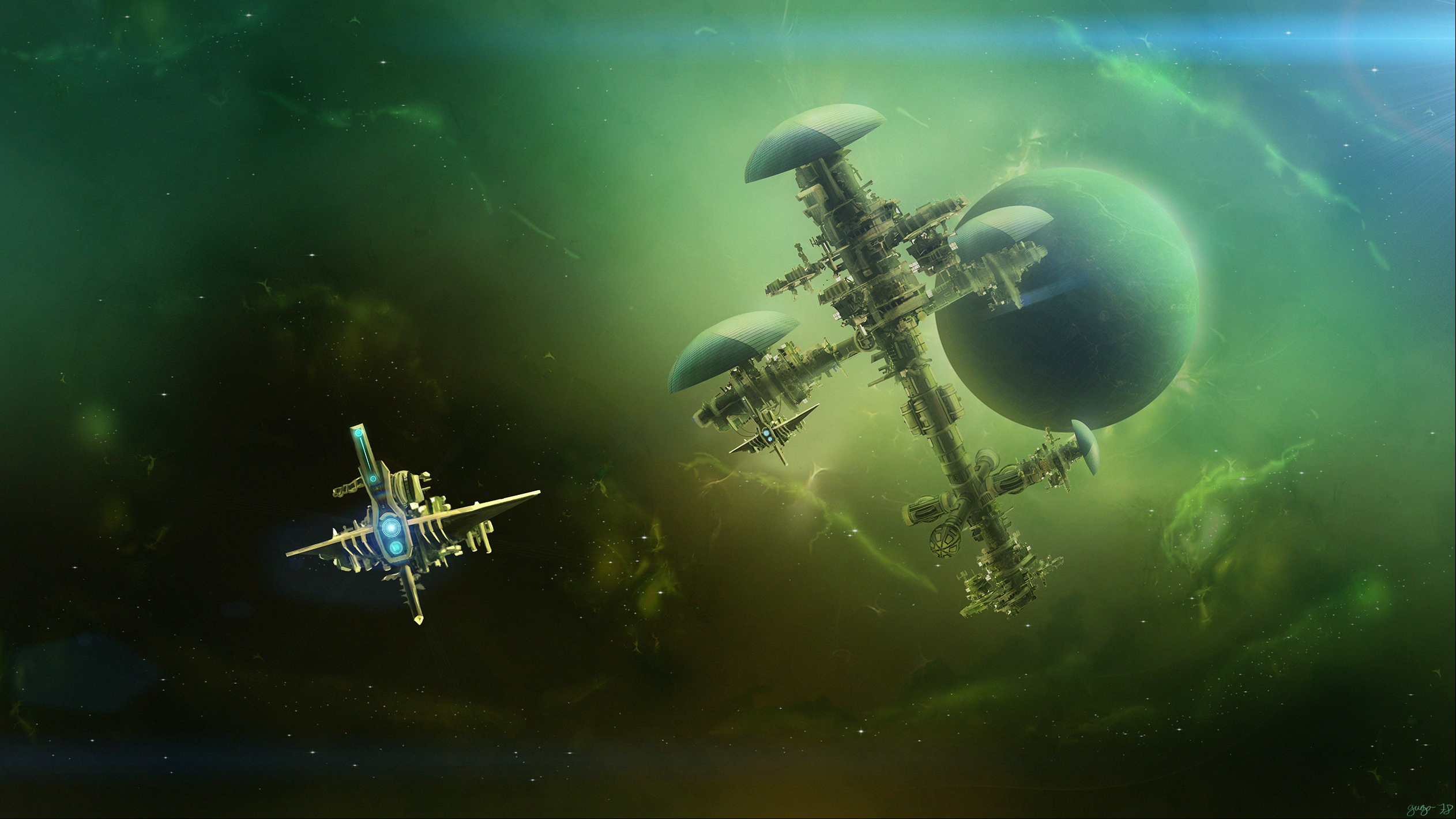 Space Station Hd Wallpaper Background Image 2525x1420