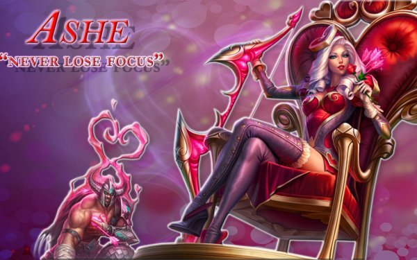 Video Game League Of Legends Ashe Fan Art Tryndamere HD Wallpaper | Background Image