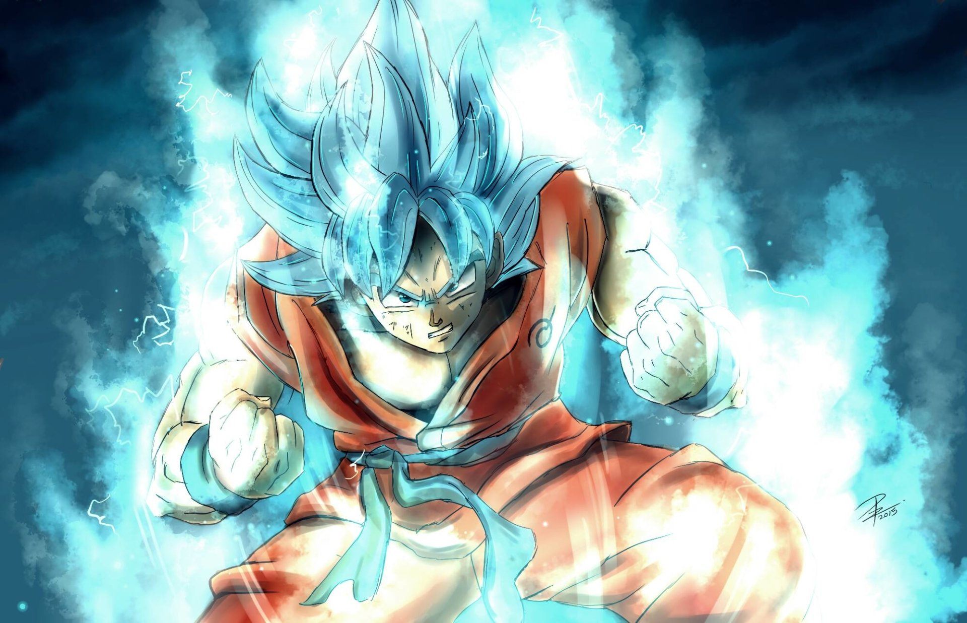 Anime - Dragon Ball Super  Goku Super Saiyan Blue Bakgrund