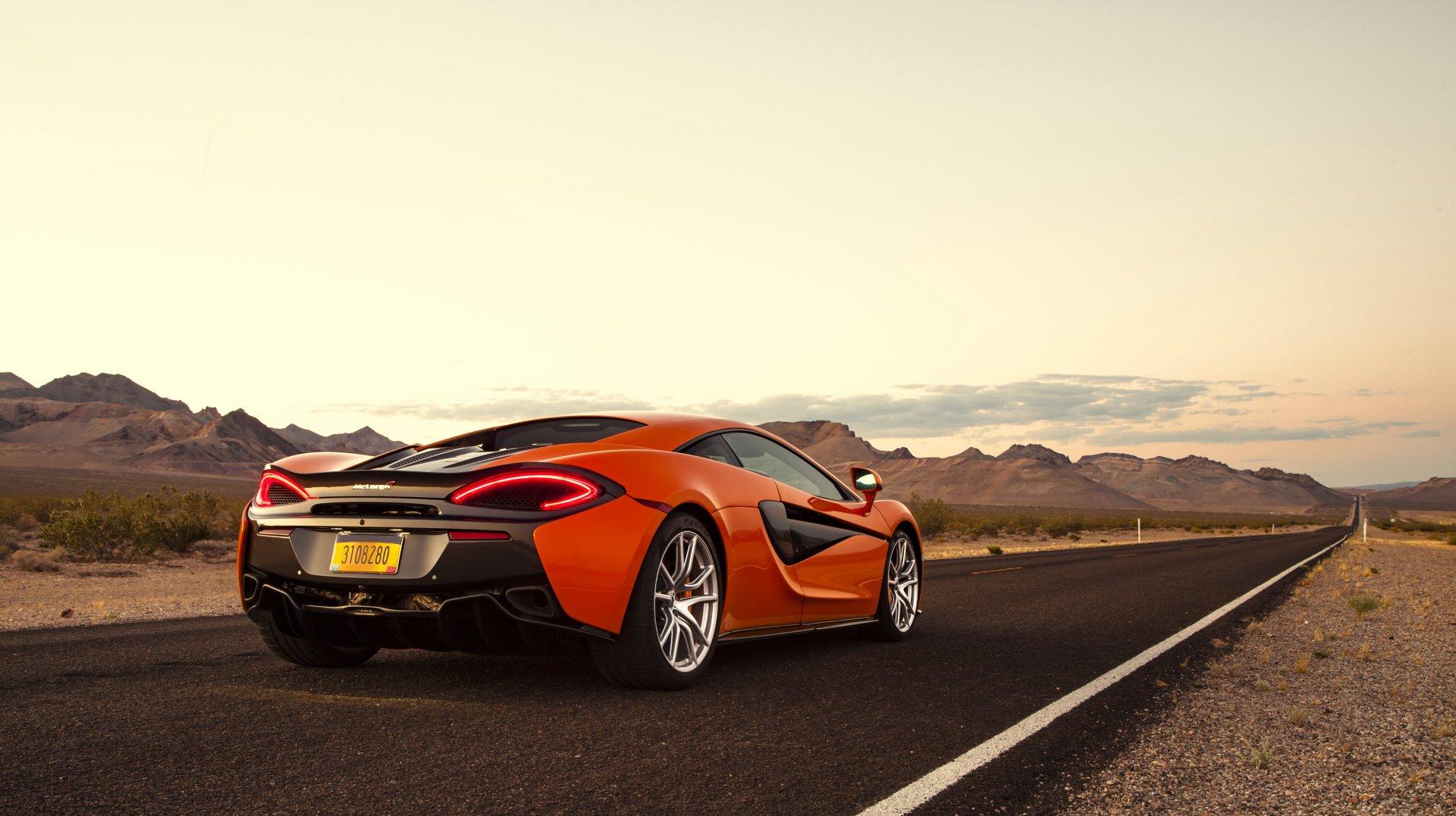 Vehicles - McLaren 570S  McLaren Car Vehicle Supercar Orange Car Wallpaper