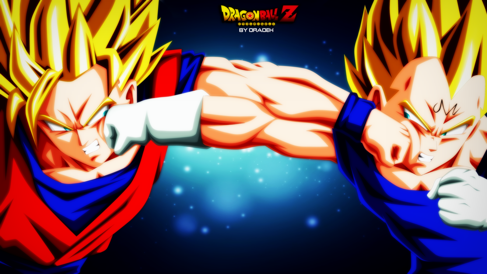 Goku Vs Majin Vegeta Wallpaper And Background Image