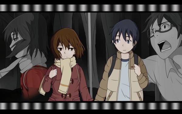Anime ERASED Kayo Hinazuki Satoru Fujinuma Boku Dake Ga Inai Machi Fondo de pantalla HD | Fondo de Escritorio