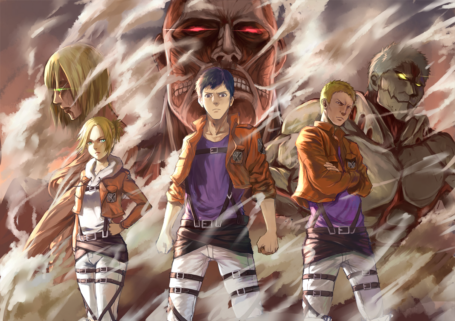 Attack On Titan Hd Wallpaper Background Image 1920x1356 Id 682082 Wallpaper Abyss